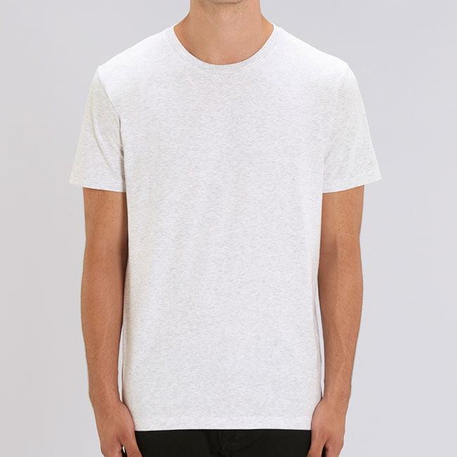 miesten t-paita vaalea meleerattu harmaa