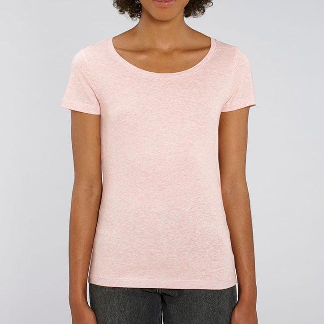naisten t-paita meleerattu pinkki