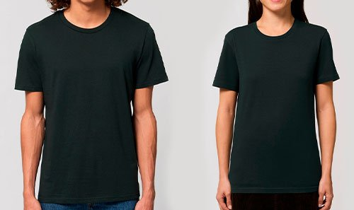 luomupuuvilla unisex t-paidat painatuksella