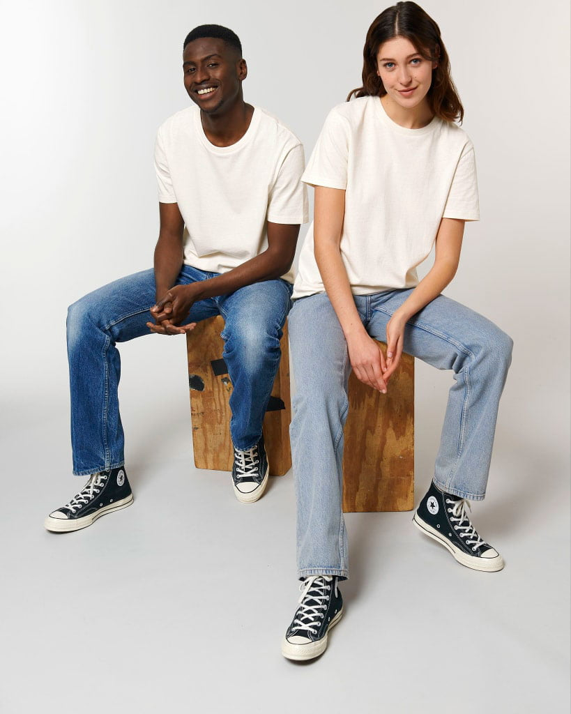 kierrätyspuuvilla t-paita luonnonvalkoinen