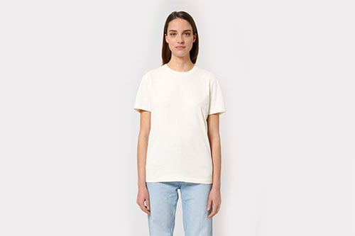 kierrätyspuuvilla t-paita omalla painatuksella-