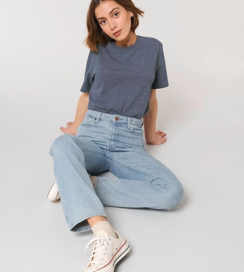 kierrätyspuuvilla t-paita tummansininen