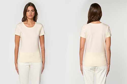 luomupuuvilla naisten t-paita 155 g