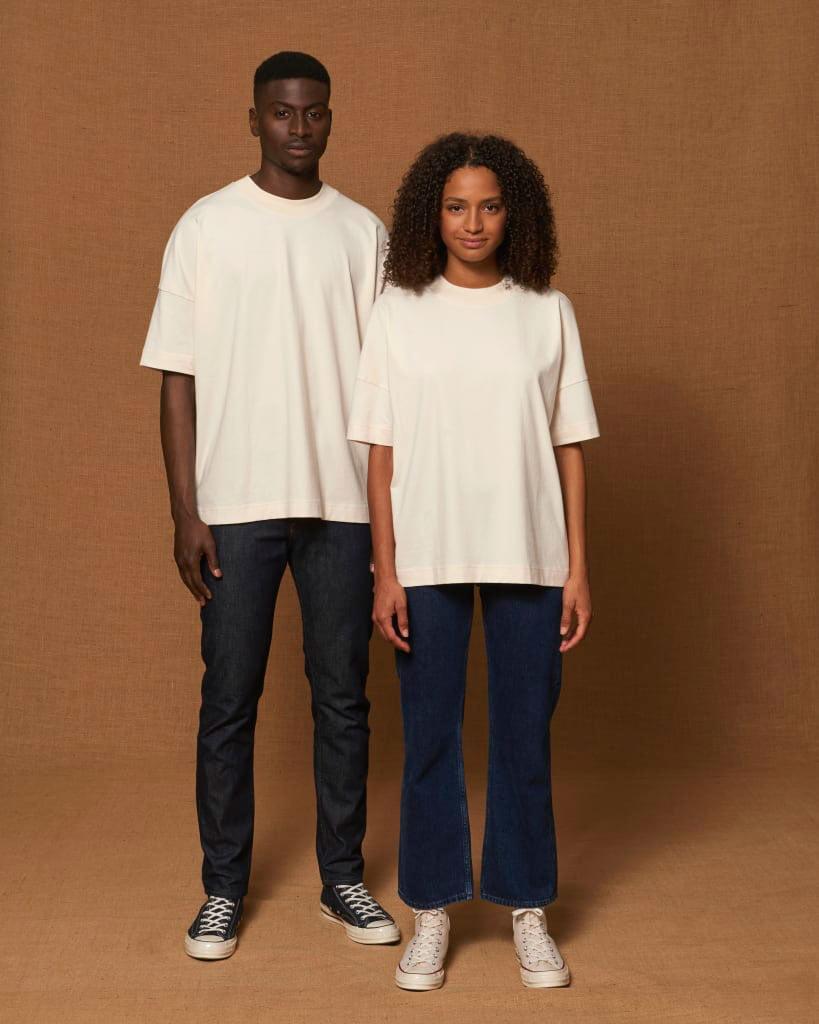 oversized t-paita luonnonvalkoinen